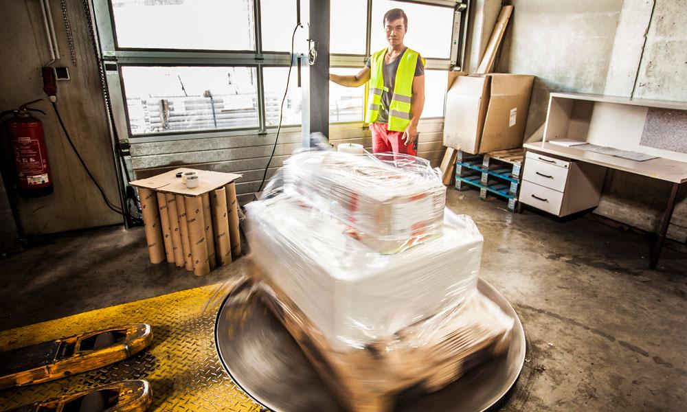 Spedicam Logistik Verpackung